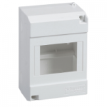10206 - Micro Pragma surface enclosure - IP30 - 1x4modules - reversible transparent door, Schneider Electric