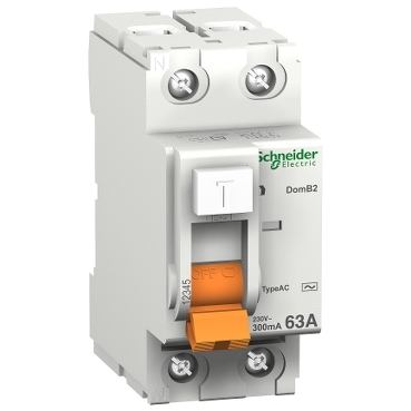 16793 - residual current circuit breaker - 2 poles - 40 A - class AC 30mA, Schneider Electric