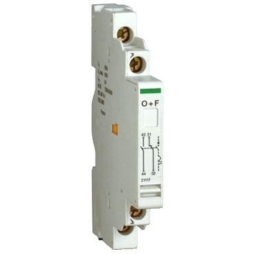 21117 - contact auxiliar - 1 NO + 1 NC - pentru P25M - 415 V - 2,2 A, Schneider Electric