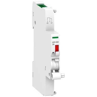 A9A26897 - Contact auxiliar iOF+SD - 24V DC with Ti24 interface, Schneider Electric