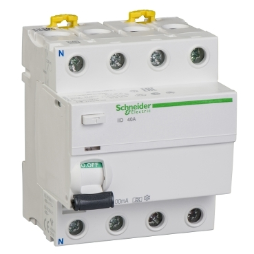 A9R22440 - iID - protectie diferentiala - 4P - 40A - 100mA - tip A, Schneider Electric
