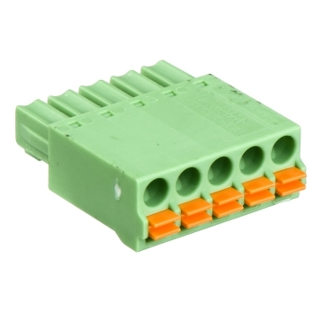 A9XC2412 - set of 12 spring connectors 5 pins Ti24, Schneider Electric