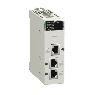 BMXNOM0200 - Serial link module with 2 RS-485/232 ports in Modbus and Character mode, Schneider Electric