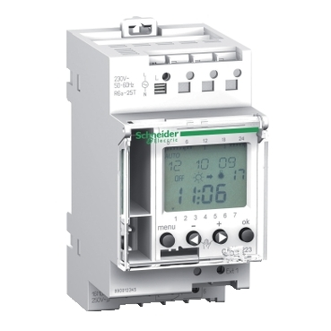CCT15224 - Acti 9 - IC Astro - 1C programmable astronomic twilight switch, Schneider Electric