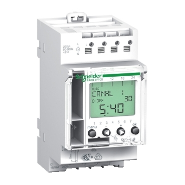 CCT15720 - Acti 9 - IHP - 1C digital time switch - 24 hours + 7 days, Schneider Electric