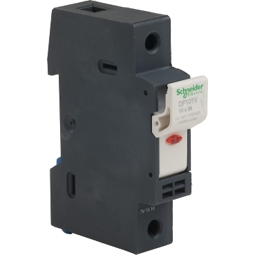 DF101V - TeSyS fuse-disconnector 1P 32A - fuse size 10 x 38 mm - blown fuse indicator, Schneider Electric