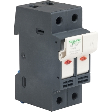 DF102V - TeSyS fuse-disconnector 2P 32A - fuse size 10 x 38 mm - blown fuse indicator, Schneider Electric