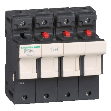 DF143NC - TeSyS fuse-disconnector 3P N 50A - fuse size 14 x 51 mm, Schneider Electric