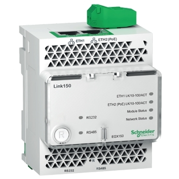 EGX150 - Link150-ethernetgateway-2Ethernetport-24VDCandPoE, Schneider Electric