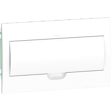EZ9E118P2F - Easy9 - flush enclosure 18 modules - plain door - with E/N term.blocks, Schneider Electric
