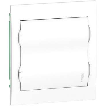 EZ9E212P2F - Easy9 - flush enclosure 24 modules - plain door - with E/N term.blocks, Schneider Electric
