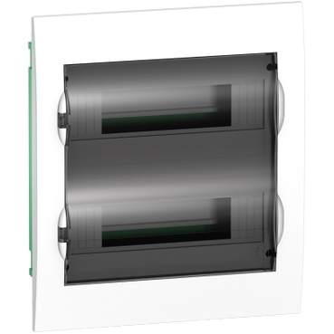 EZ9E212S2F - Easy9 - flush enclosure 24 modules - smoked door - with E/N term.blocks, Schneider Electric