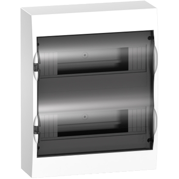 EZ9E212S2S - Easy9 - surface enclosure 24 modules - smoked door - with E/N term.blocks, Schneider Electric