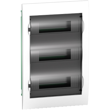 EZ9E312S2F - Easy9 - flush enclosure 36 modules - smoked door - with E/N term.blocks, Schneider Electric