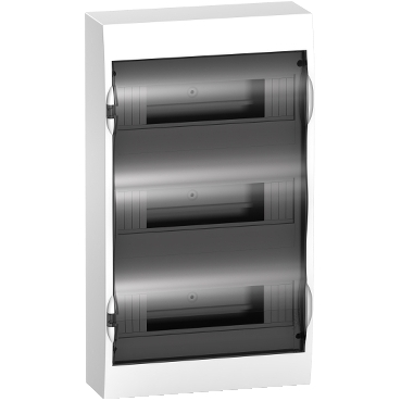 EZ9E312S2S - Easy9 - surface enclosure 36 modules - smoked door - with E/N term.blocks, Schneider Electric