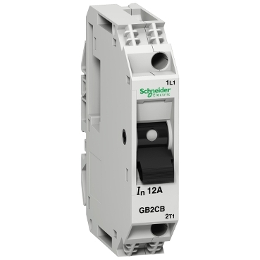 GB2CB10 - TeSys GB2 - thermal-magnetic circuit breaker - 1P - 5 A - Id = 66 A , Schneider Electric