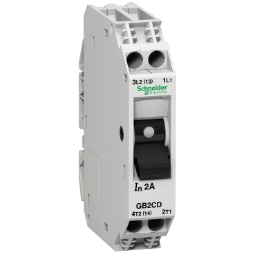 GB2CD16 - TeSys GB2 - thermal-magnetic circuit breaker - 1P + N - 10 A - Id = 138 A , Schneider Electric