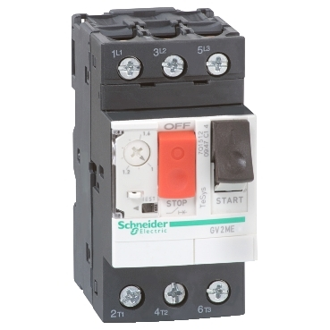 GV2ME076 - TeSys GV2-Circuit breaker-thermal-magnetic - 1.6...2.5 A - lugs-ring terminals, Schneider Electric