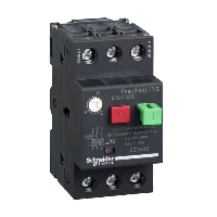 GZ1E02 - motor circuit breaker GZ1 - 3 poles 3d - 0.16..0.25A - thermomagnetic trip unit, Schneider Electric