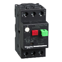 GZ1E04 - motor circuit breaker GZ1 - 3 poles 3d - 0.40..0.63A - thermomagnetic trip unit, Schneider Electric