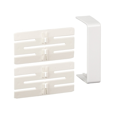 ISM10206P - OptiLine 45 - joint cover piece - 95 x 55 mm - PC/ABS - polar white, Schneider Electric
