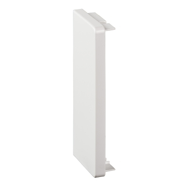 ISM10304P - OptiLine 45 - stop end - 140 x 55 mm - PC/ABS - polar white, Schneider Electric