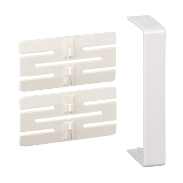 ISM10306P - OptiLine 45 - joint cover piece - 140 x 55 mm - PC/ABS - polar white, Schneider Electric