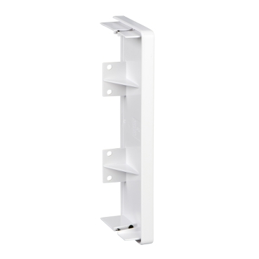 ISM10404P - OptiLine 45 - stop end - 165 x 55 mm - PC/ABS - polar white, Schneider Electric
