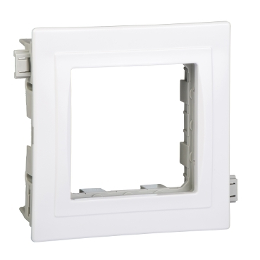 ISM15200P - OptiLine 70 - adaptor for Unica wiring device - 1 module - polar white, Schneider Electric