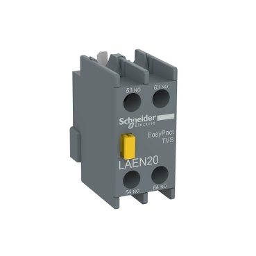 LAEN20 - EasyPact TVS - auxiliary contact block - 2 NO - screw-clamps terminals, Schneider Electric