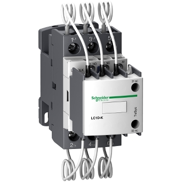 LC1DLKP7 - TeSys LC1D.K capacitor duty contactor - 3P - 20 kVAR - 415 V - 230 V AC coil, Schneider Electric