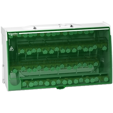 LGY412560 - Linergy DS - screw distribution block 4P - 125A - 60 holes, Schneider Electric