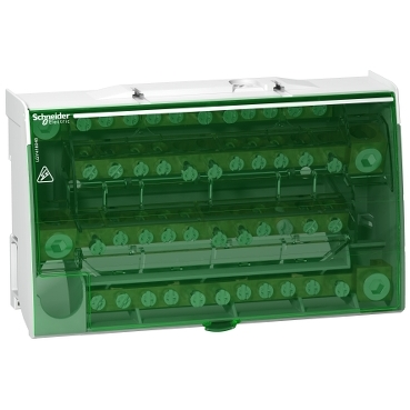 LGY416048 - Linergy DS - screw distribution block 4P - 160A - 48 holes, Schneider Electric