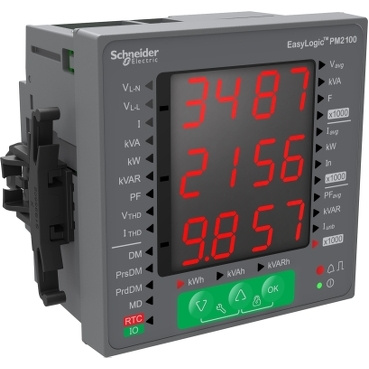 METSEPM2120 - EasyLogic PM2120 - Power & Energy meter - up to 15th H - 7S - RS485 - class 1, Schneider Electric