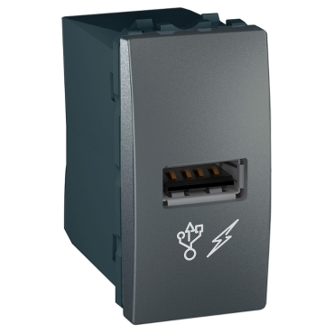 MGU3.428.12 - Unica - USB charger - graphite, Schneider Electric