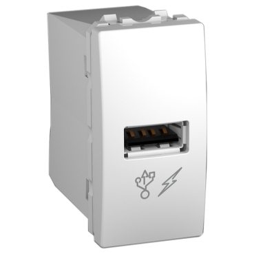 MGU3.428.18 - Unica - USB charger - white, Schneider Electric