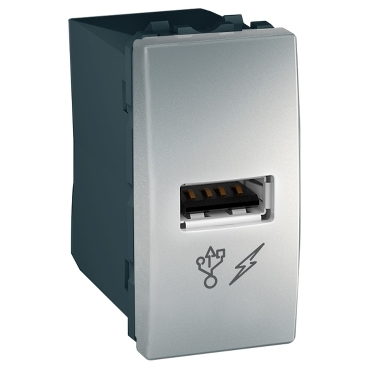 MGU3.428.30 - Unica - USB charger - aluminium, Schneider Electric