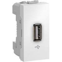 MGU3.429.18 - Unica - USB data connector - 1 module - white, Schneider Electric