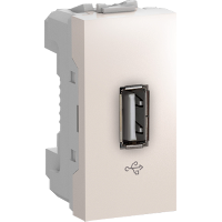 MGU3.429.25 - Unica - USB data connector - 1 module - ivory, Schneider Electric