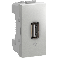 MGU3.429.30 - Unica - USB data connector - 1 module - aluminium, Schneider Electric