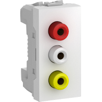 MGU3.431.18 - Unica - data socket - 1 socket - RCA female - white, Schneider Electric