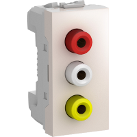 MGU3.431.25 - Unica - data socket - 1 socket - RCA female - ivory, Schneider Electric