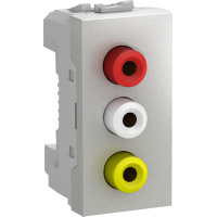 MGU3.431.30 - Unica - data socket - 1 socket - RCA female - aluminium, Schneider Electric