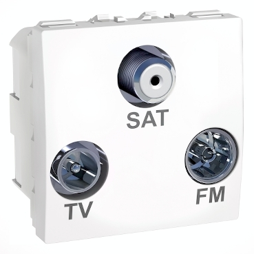 MGU3.450.18 - Unica - TV/FM/SAT individual socket - white, Schneider Electric