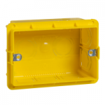 MGU8.603 - Unica Allegro - flush mounting box - 3 m - 10 holes - yellow, Schneider Electric