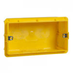 MGU8.604 - Unica Allegro - flush mounting box - 4 m - 10 holes - yellow, Schneider Electric