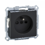 MTN2500-0414 - Socket-outlet with pin earth, shutter, screwless terminals, anthracite, System M, Schneider Electric
