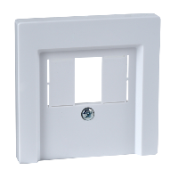 MTN296025 - Central plate with square opening, active white, glossy, System M, Schneider Electric