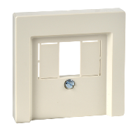 MTN296044 - Central plate with square opening, white, glossy, System M, Schneider Electric