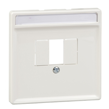 MTN297819 - Central plate with square opening, polar white, Artec/Trancent/Antique, Schneider Electric